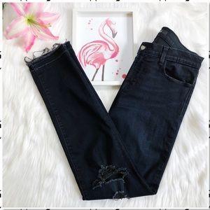 J Brand 811 Skinny Leg Distressed Skinny Jeans